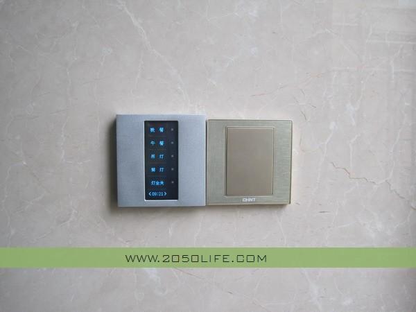 餐厅的液晶智能触摸面板(主要控制餐厅及厨房各种场景及单独开关控制)