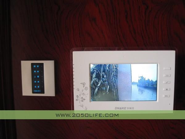 玄关处室内可视对讲主机(实现可视对讲远程开锁功能)