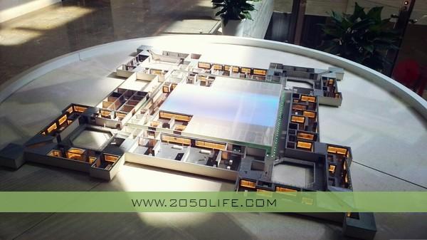 当代中国书法艺术馆三层模型