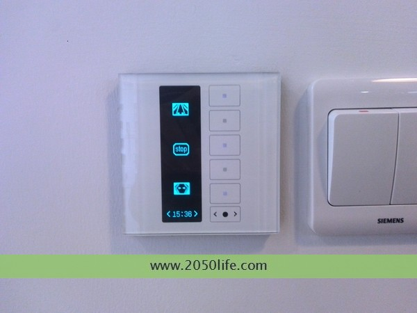 多功能液晶面板电动窗帘专用控制界面(打开、关闭、停止控制)