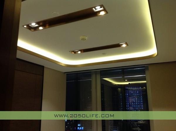 客户经理办公区智能灯光效果